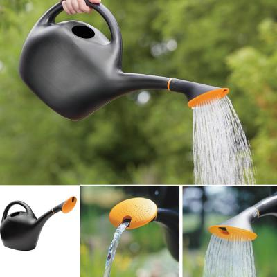 Easy Pour 1.6 Gal. Black Plastic Watering Can