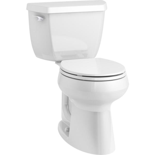 Kohler Highline Classic Complete Solution 2 Piece 1 28 Gpf Single Flush Round Front Toilet In White Seat Included K 76407 0 The Home Depot