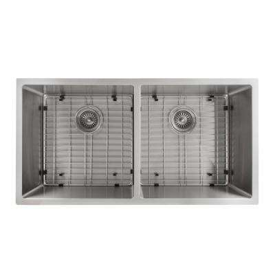Executive Series 36 in. Undermount Double Bowl Kitchen Sink in Stainless Steel