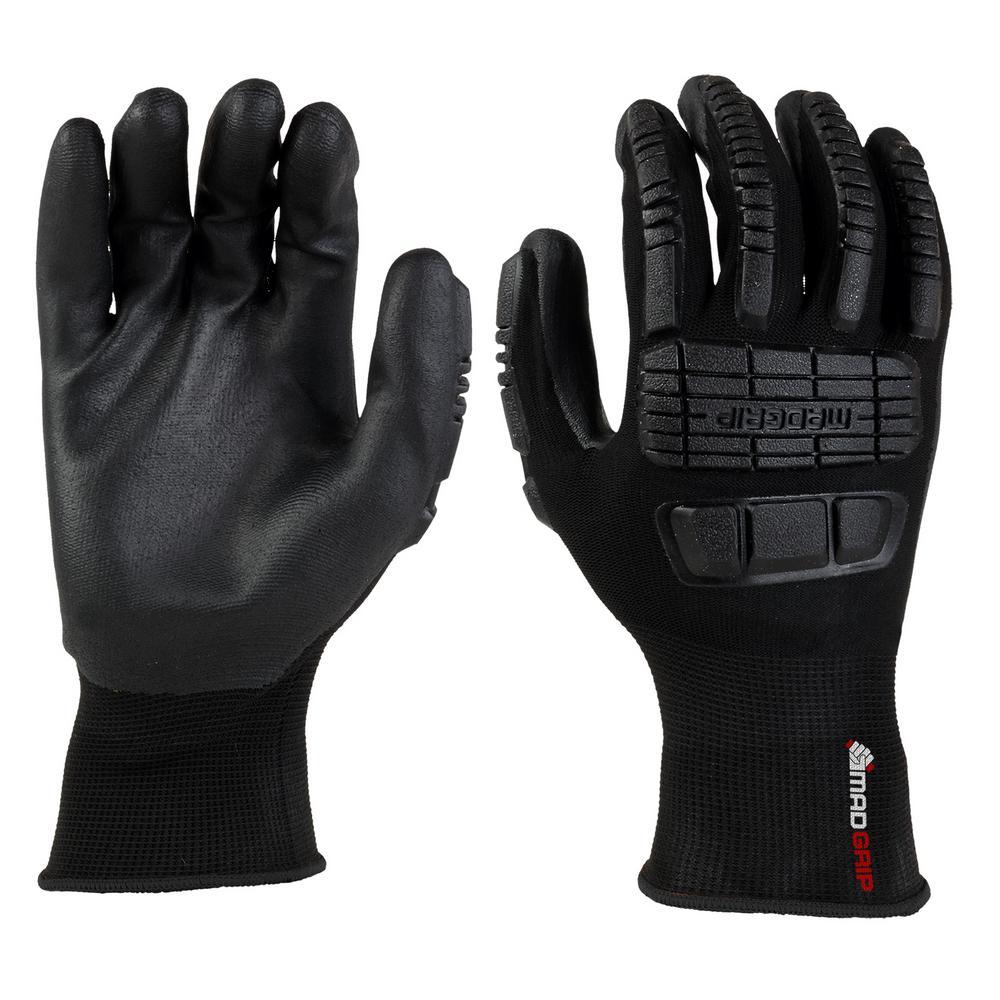 Ergo Impact Black Large Glove