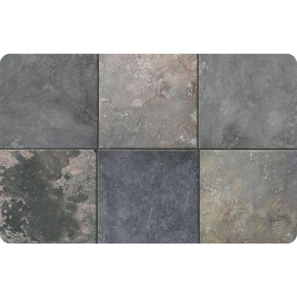 Neoprene Tin Tile Bronze Door Mat x 36 in Bungalow Flooring Multi Color 23 in