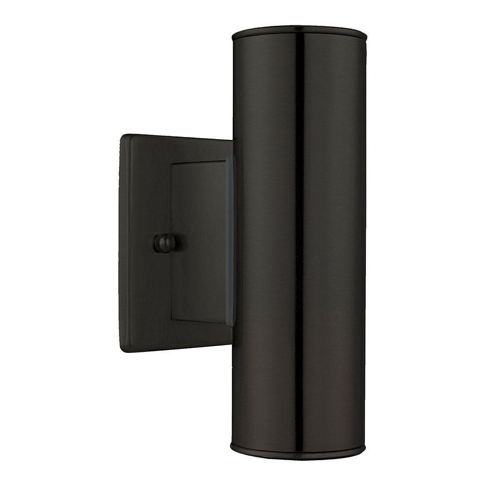 Eglo Riga 4 25 In W X 7 87 H 2 Light Black Outdoor Wall Lantern Sconce