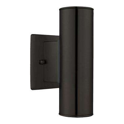 Riga 2-Light Black Outdoor Wall Light