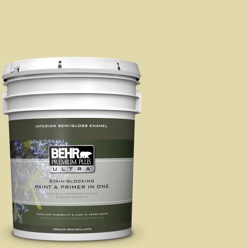 5 gal. #HDC-CT-27A Fresh Willow Semi-Gloss Enamel Interior Paint