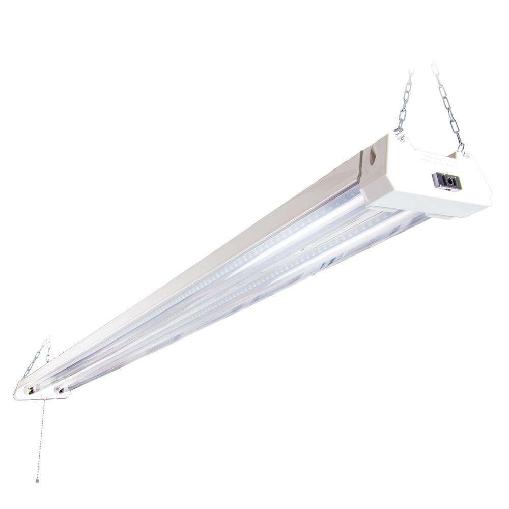 4 ft. 300-Watt Equivalent LED White Shop Light