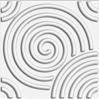 Kingsman Hardware 19.6 in. x 19.6 in. x 1 in. Off-White Plant Fiber Spiral Design Glue-On Wainscot Wall Panels (10-Pack)