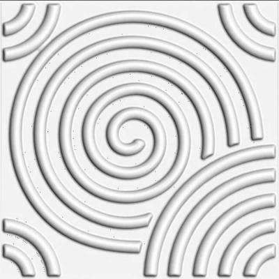 19.6 in. x 19.6 in. x 1 in. Off-White Plant Fiber Spiral Design Glue-On Wainscot Wall Panels (10-Pack)