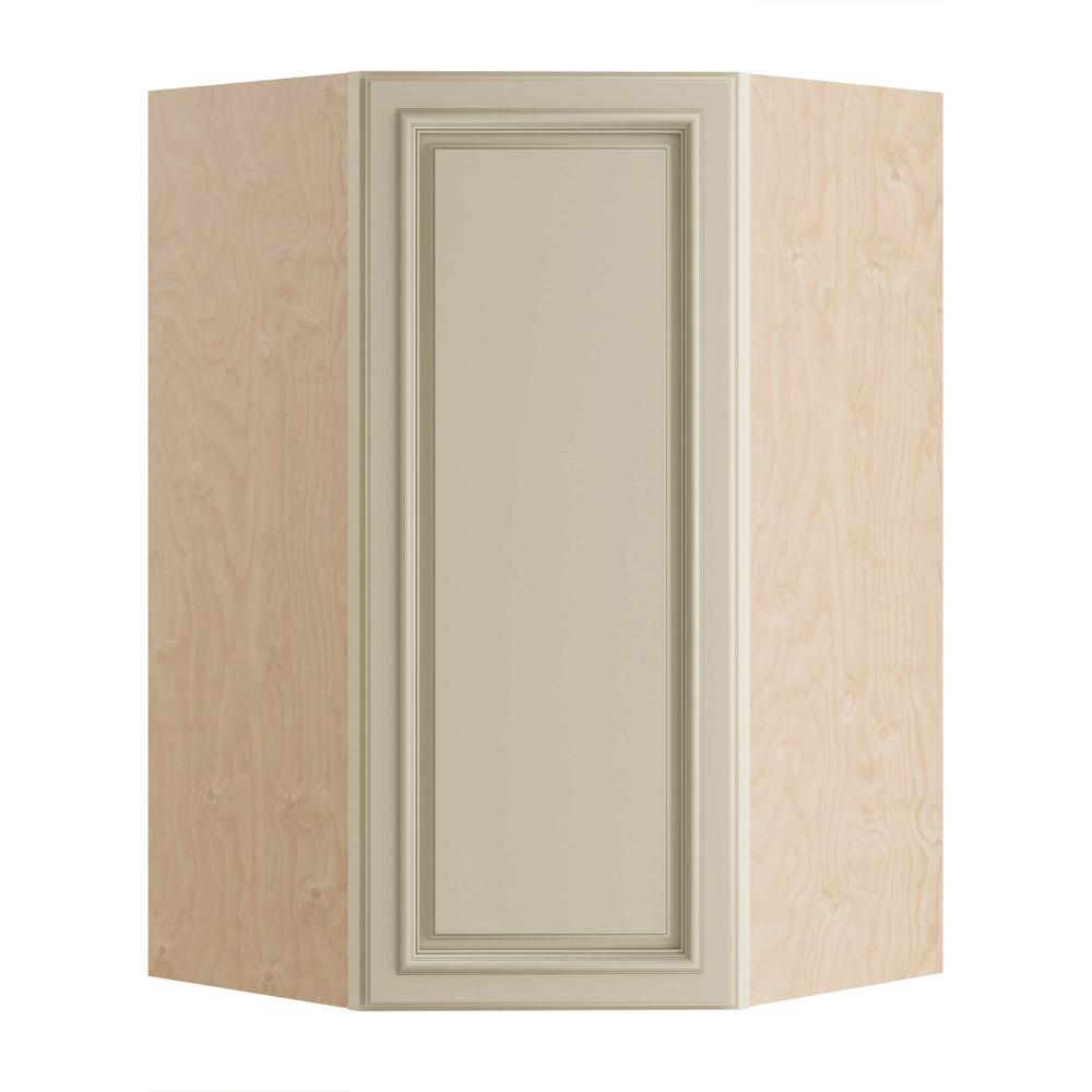 Home Decorators Collection Holden Assembled 27x42x15 in. Single Door Hinge Left Wall Kitchen Angle Cabinet in Bronze Glaze