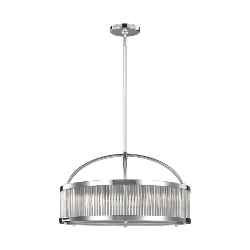 Feiss Paulson 3-Light Chrome Pendant
