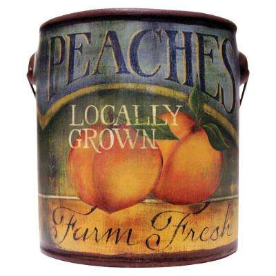 Farm Fresh Ceramic Candle Peaches