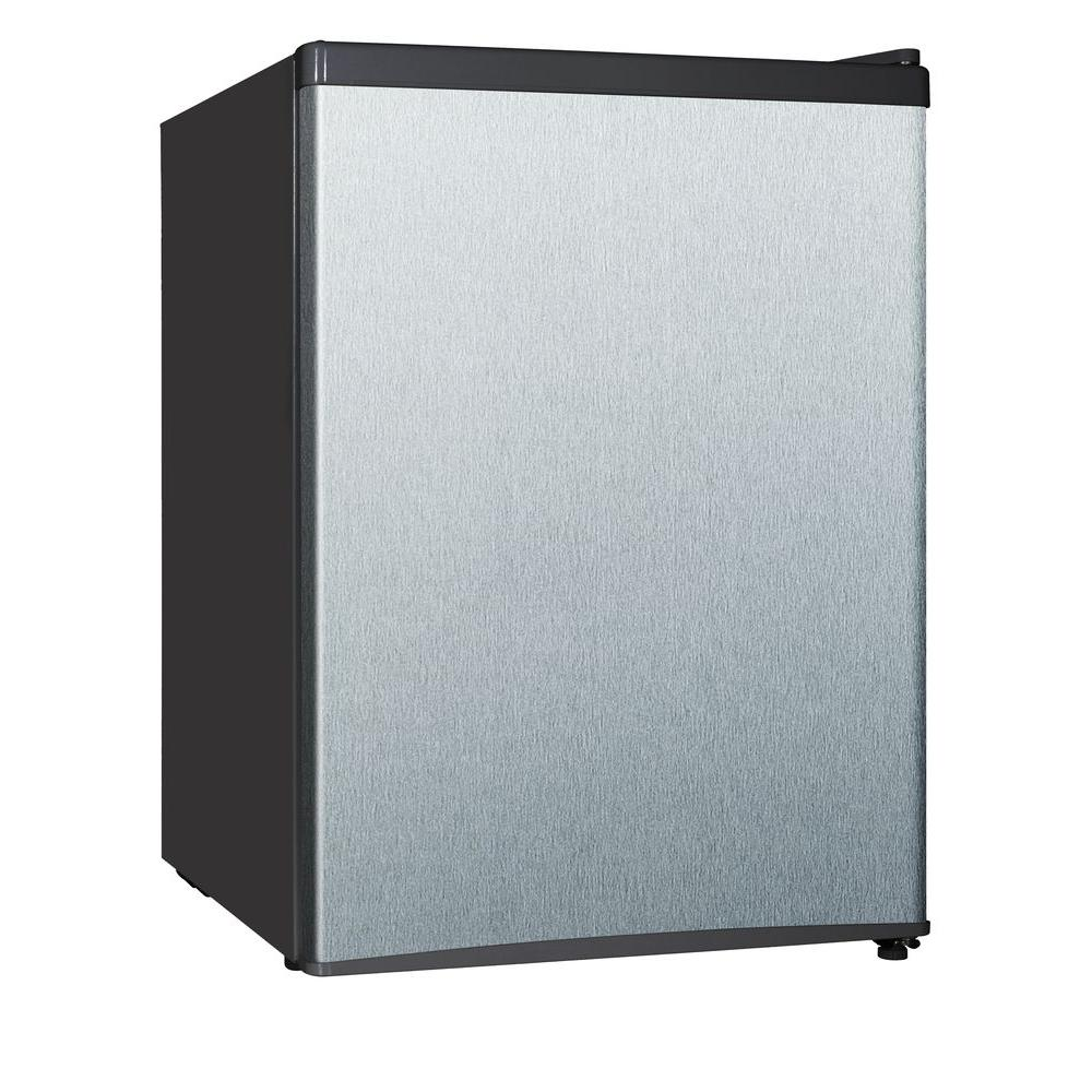 Magic Chef 2 4 Cu Ft Mini Refrigerator In Stainless Look
