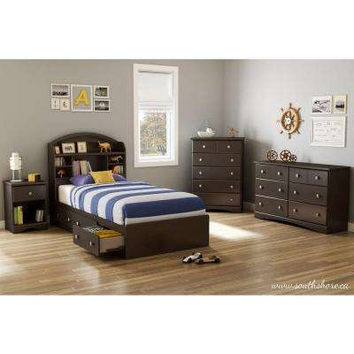 Morning Dew Chocolate Twin Kids Headboard