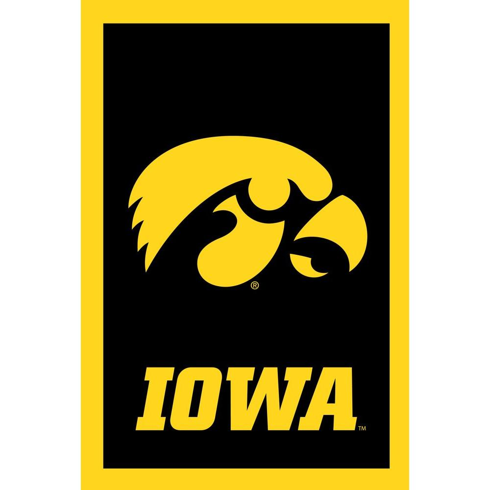 Evergreen Enterprises NCAA 28 in. x 44 in. Iowa 2-Sided Flag