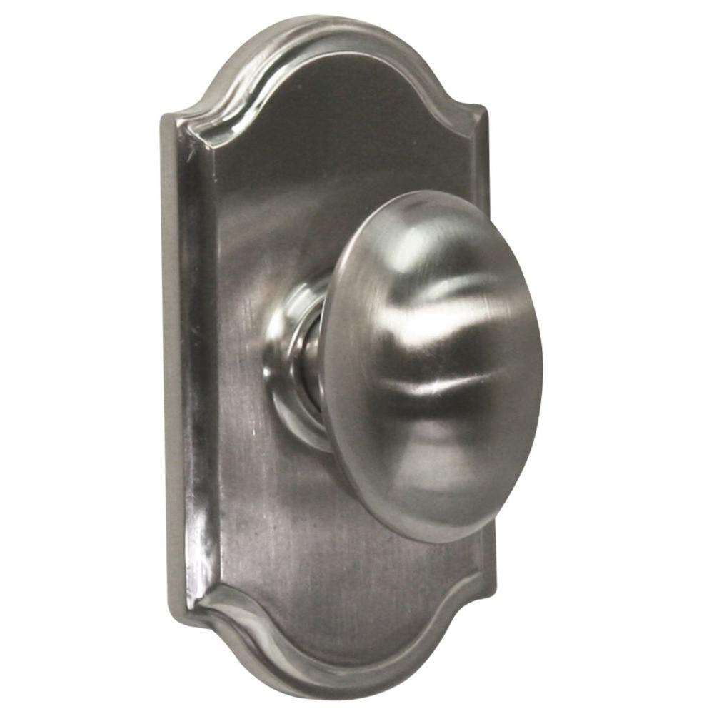 Elegance Satin Nickel Premiere Privacy Bed/Bath Julienne Door Knob