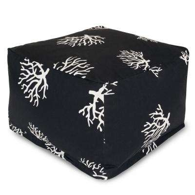 Black Coral Indoor/Outdoor Ottoman Cushion