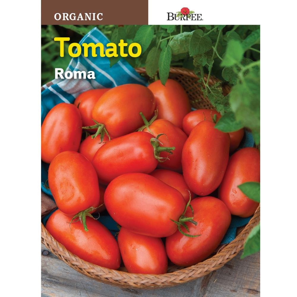 Burpee Tomato Roma Organic Seed 60708 The Home Depot