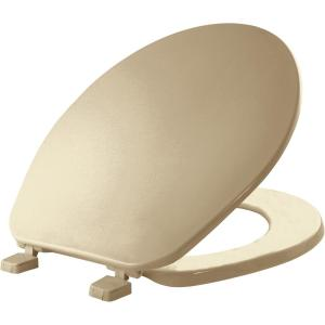 Bemis Round Closed Front Toilet Seat in Biscuit by BEMIS