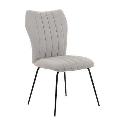 Livia Ash Grey Velvet Guest/Dining Chair
