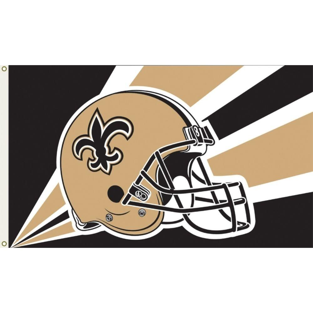 Annin Flagmakers 3 Ft X 5 Ft Polyester New Orleans Saints Flag 1368 The Home Depot