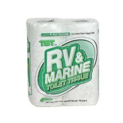TST Biodegradable 1-Ply Toilet Tissue (4 Rolls Per Package)