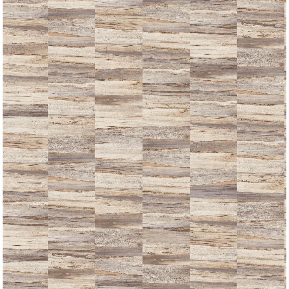 Hugo Cream Faux Wood Wallpaper