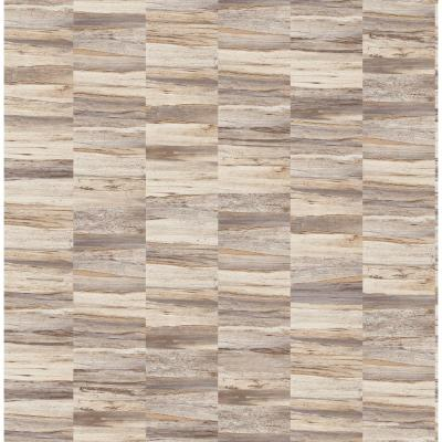 Hugo Cream Faux Wood Wallpaper Sample