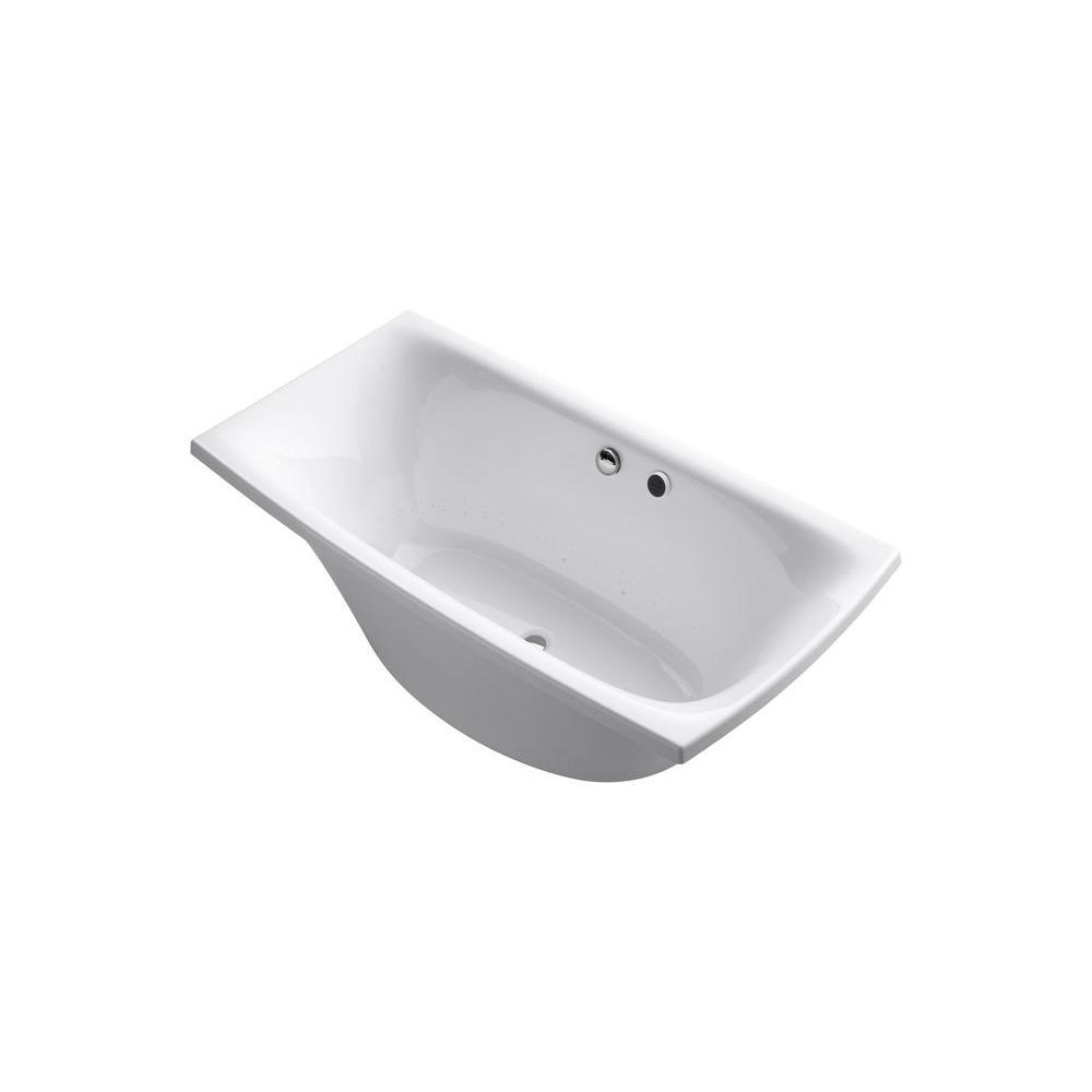 KOHLER Escale 6 ft. x 36 in. BubbleMassage Freestanding Air Bath Tub ...