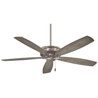 Kafe 52 in. Indoor Burnished Nickel Ceiling Fan