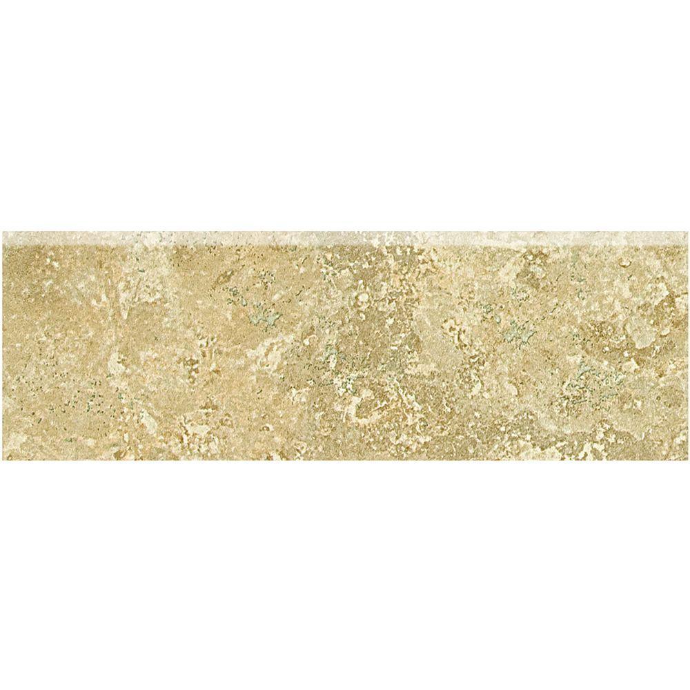 Fantesa Cameo 2 in. x 6 in. Ceramic Bullnose Wall Tile