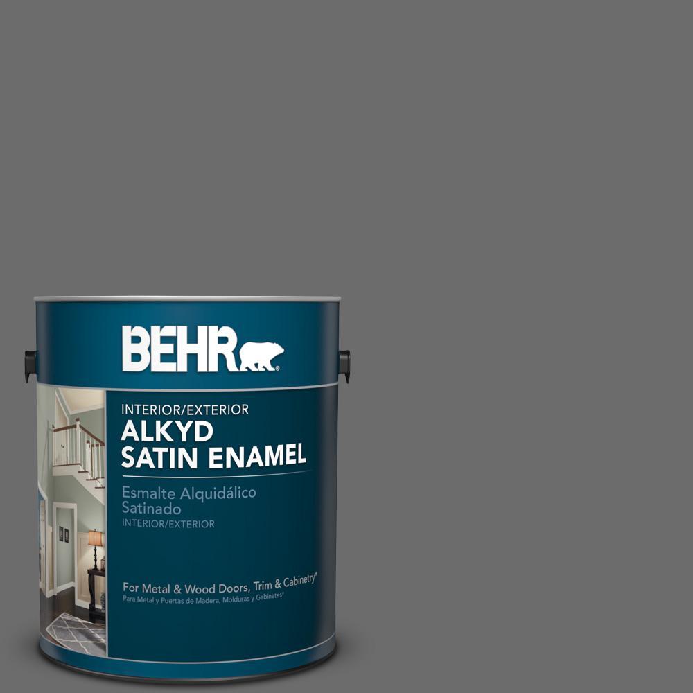 1 gal. #780F-6 Dark Granite Satin Enamel Alkyd Interior/Exterior Paint