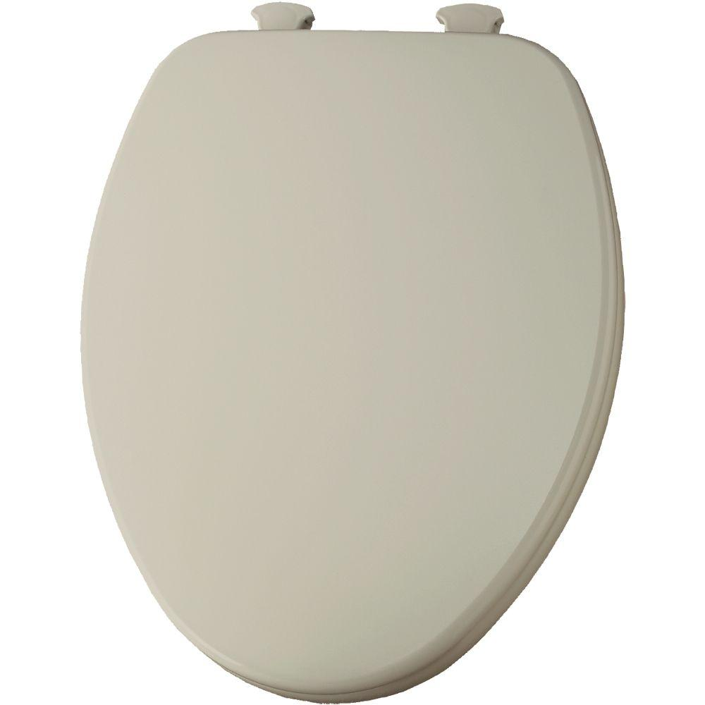 Lift-Off Elongated Closed Front Toilet Seat in Almond
