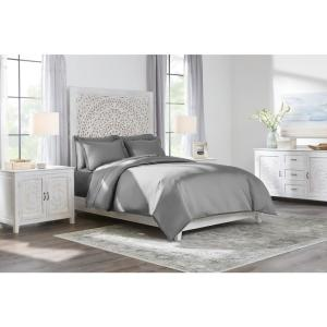 400 Thread Count Performance Cotton Sateen 3-Piece Full/Queen Duvet Cover Set in Charcoal