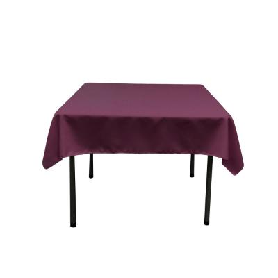52 in. by 52 in. Eggplant Polyester Poplin Square Tablecloth