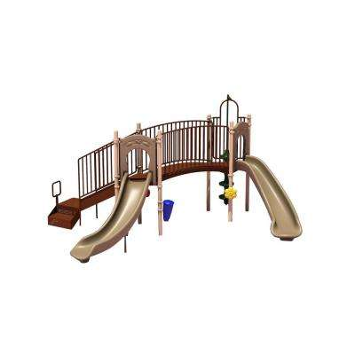 UPlay Today Hamilton Ridge (Natural) Commercial Playset with Ground Spike