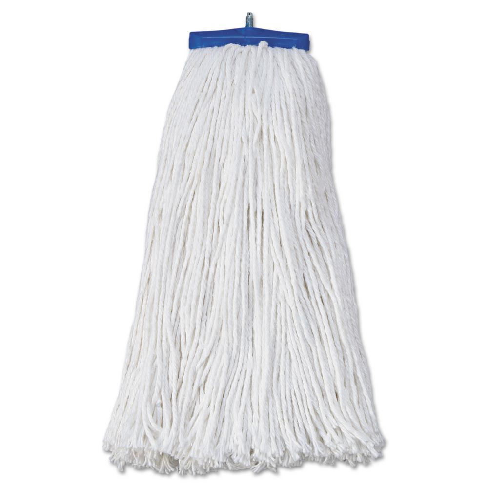 20 oz. Rayon Fiber Economical Lie-Flat Head Mop Head in White