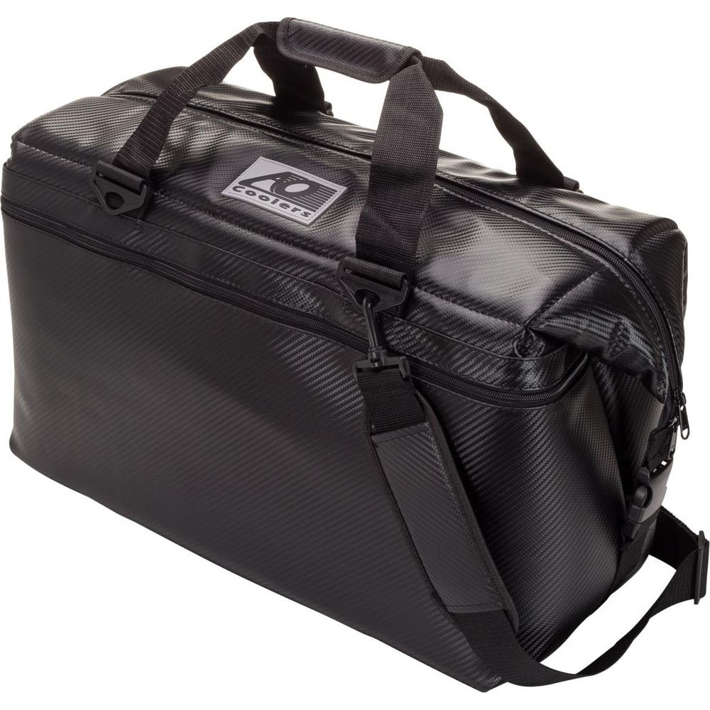 42 Qt. Carbon Cooler with Shoulder Strap and Wide Outside Pocket
