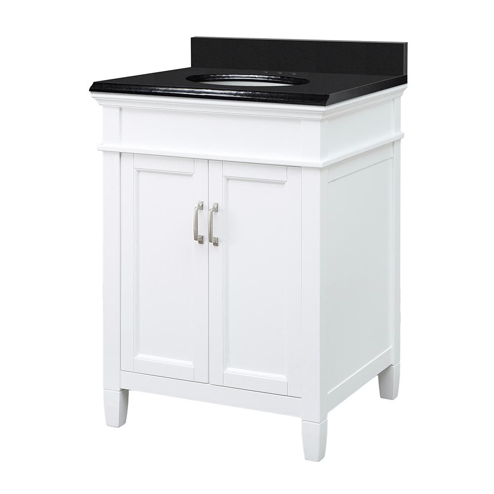 Foremost Ashburn 25 in. W x 22 in. D Vanity Cabinet in White with ...