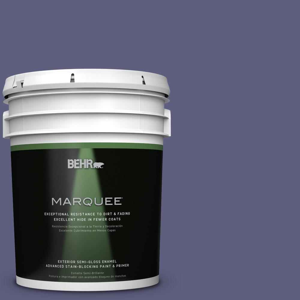 5-gal. #M550-7 Strong Iris Semi-Gloss Enamel Exterior Paint