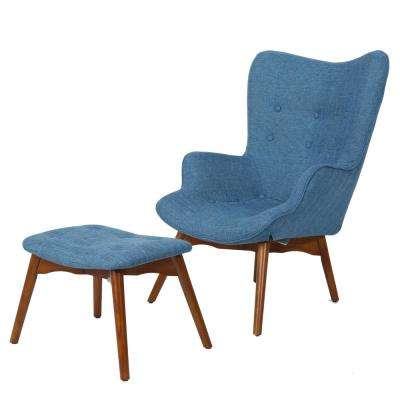 Wondrous Club Chair Blue Fabric Accent Chairs Chairs The Ocoug Best Dining Table And Chair Ideas Images Ocougorg