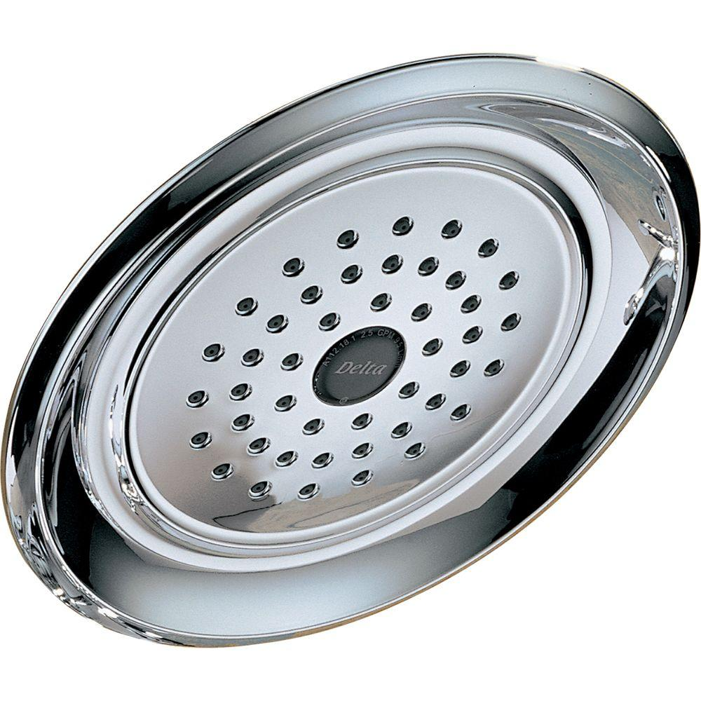 Delta HydroRain 5-Spray 6 in. 2-in-1 Fixed Shower Head in Chrome ...