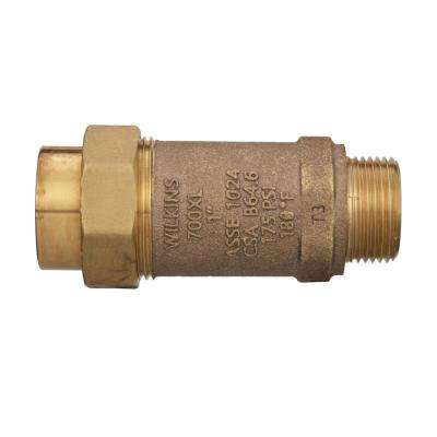 1 in. Union FMTC Inlet x 1 in. MMTC Outlet Lead-Free Bronze Dual Check Valve