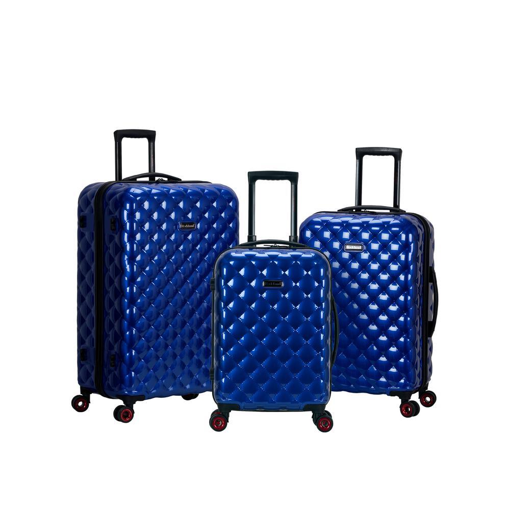 3-Piece Blue Polycarbonate Luggage Set
