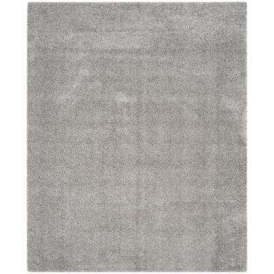 Silver 8 X 10 Shag Area Rugs Rugs The Home Depot