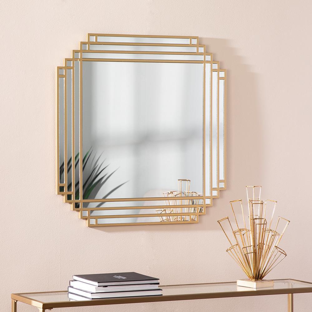 Daniels Gold Square Wall Mirror