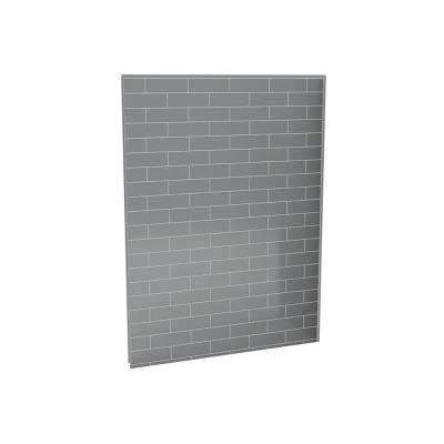 Utile Metro 1 in. x 60 in. x 80 in. 1-Piece Direct-to-Stud Back Shower Wall in Ash Grey