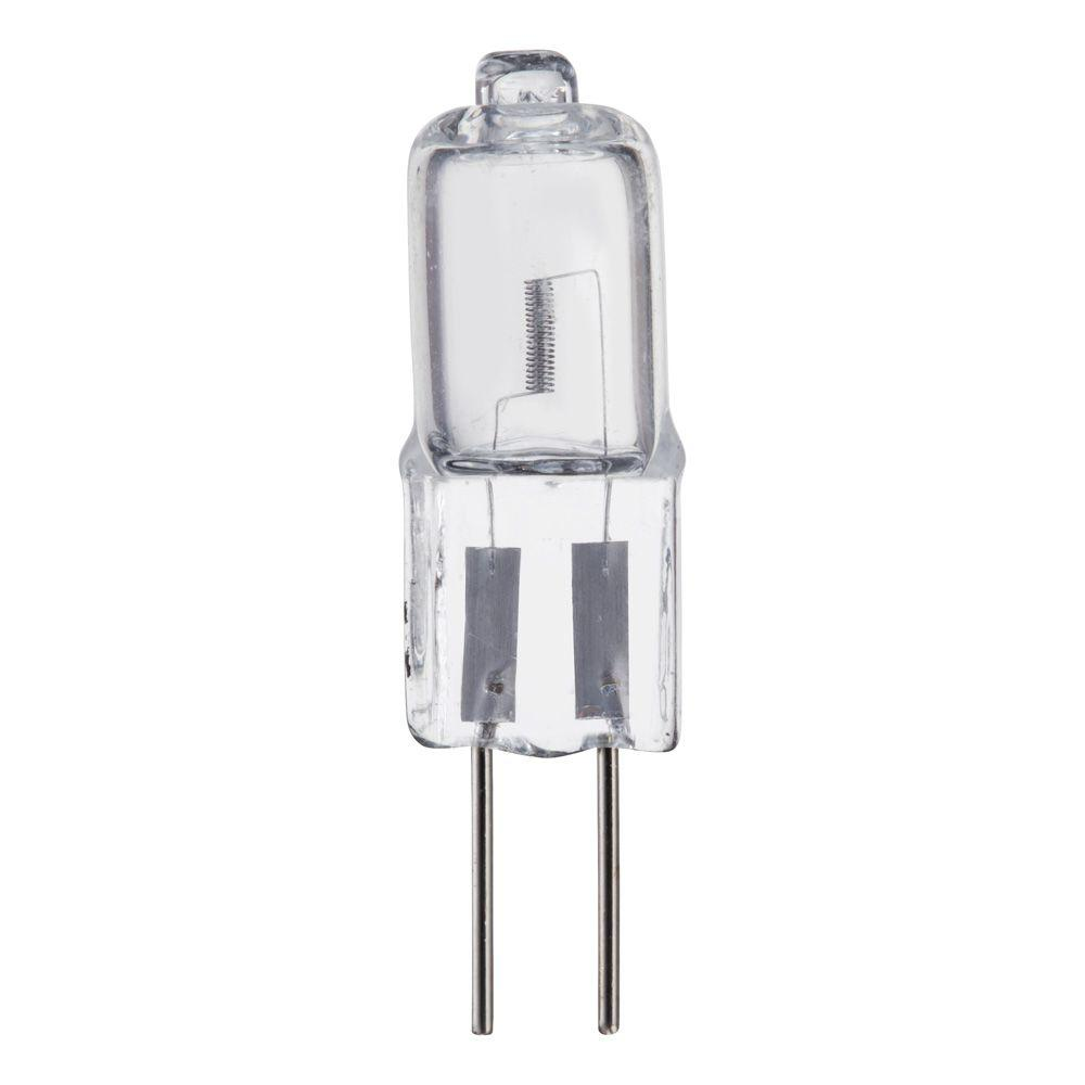 Philips 10 Watt Halogen T3 Mini Bi Pin G4 Base 12 Volt Low Voltage Capsule Light Bulb 232629