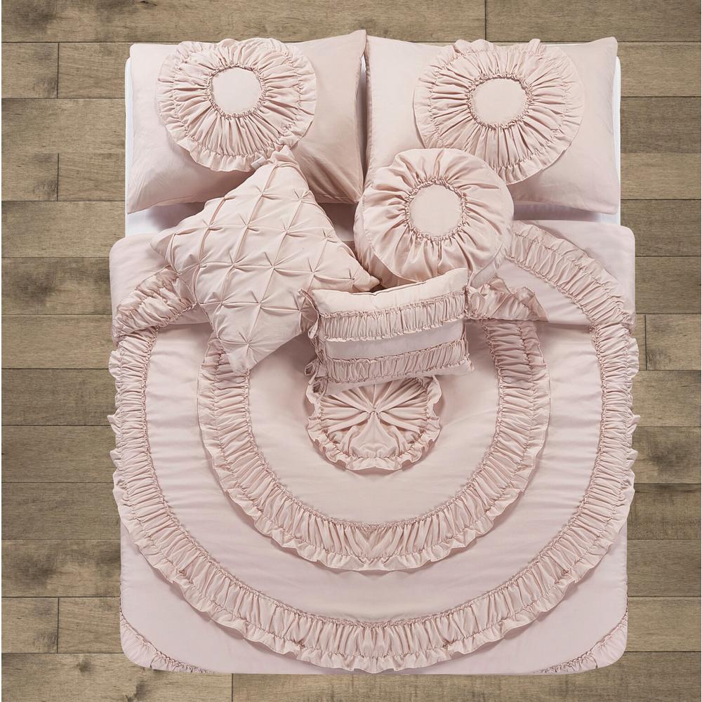 Mhf 10-Piece Pink King Comforter Set