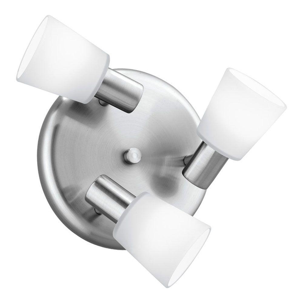 Gino 3-Light 60-Watt Wall or Ceiling Matte Nickel Light