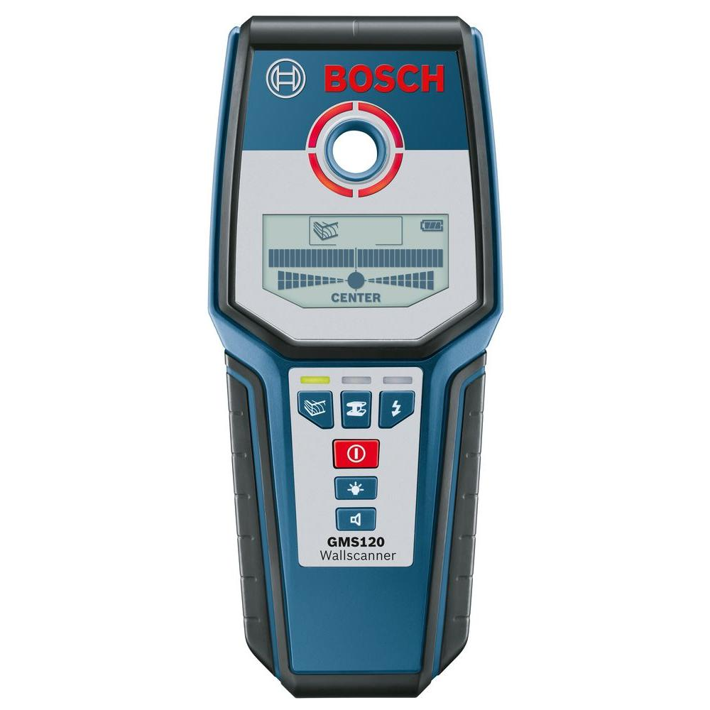 bosch digital wall scanner with modes for wood, metal, and ac wiringdigital wall scanner