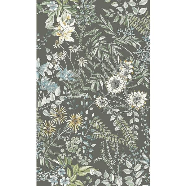 A-Street 8 in. x 10 in. Full Bloom Taupe Floral Wallpaper